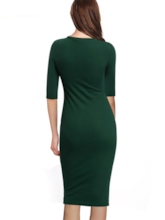 Plain Half Sleeve Women's Bodycon Dress
