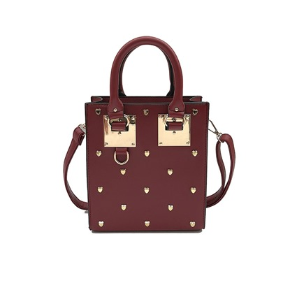 Stylish Heart-Shape Rivet Design Women Satchel