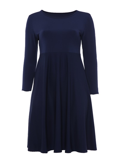 Plain Plus Size Women's Day Dress