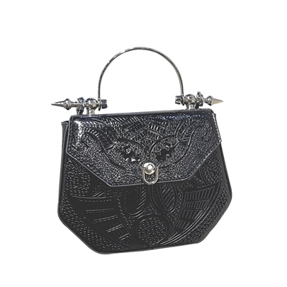 Metal Embossing Women Satchel