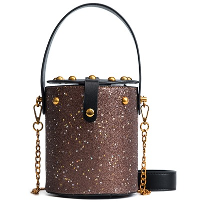 Bucket Shape Sequins Mini Crossbody Bag