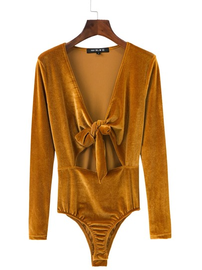 Plain Velvet Long Sleeve Short Women's Romper
