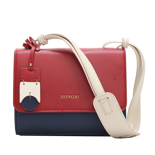 Fashion Color Block Cross Body Bag