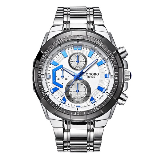 Steel Band Glass Men's Watches