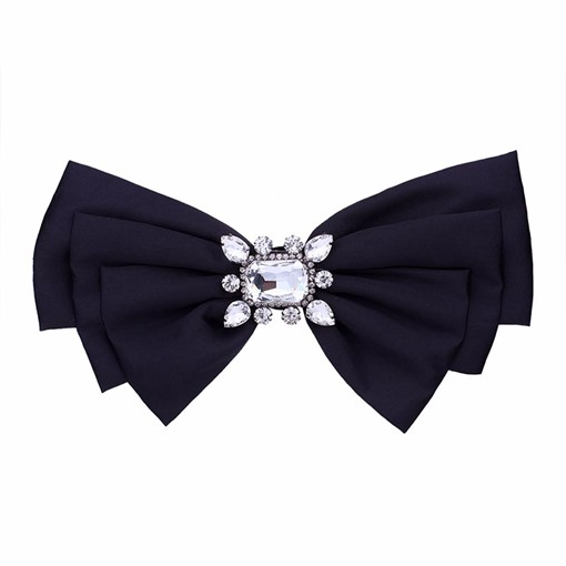 Rhinestone Bowknot Cotton Women's Brooches