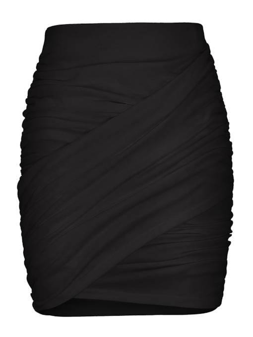 Sexy Pleated Bodycon Plain Women's Mini Skirt