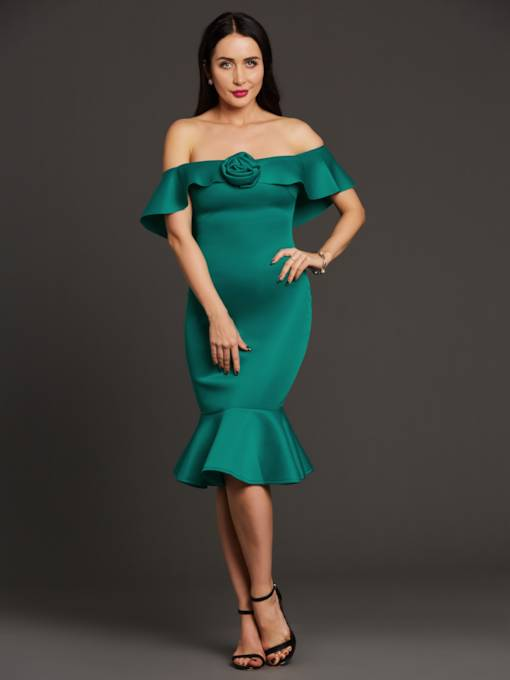 Off Shoulder Fishtail Women's Bodycon Dress