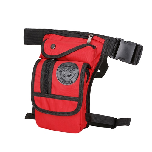 Concise Solid Color Zipper Men's Waist Pack