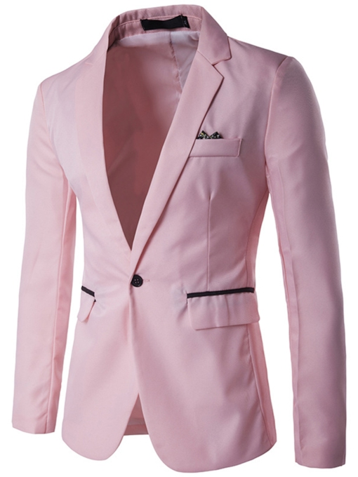 Plain Solid Color Slim Men's Leisure Blazer