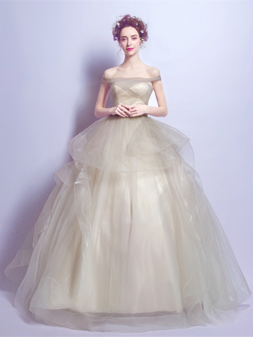 Pleats Off-the-Shoulder Short Sleeves Quinceanera Dress