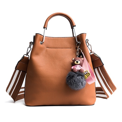 Bucket Shape Solid Color Women Tote