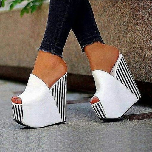 Slip-On Wedge Heel Platform Women's Slippers