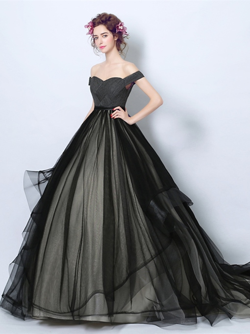 Off-the-Shoulder Pleats Quinceanera Dress