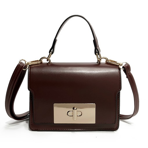 Casual Plain Color Latch Women Satchel