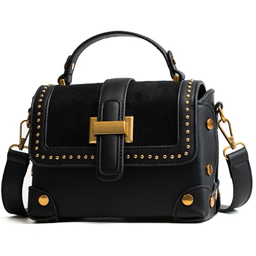 Color Block Rivet Women Cross Body Bag
