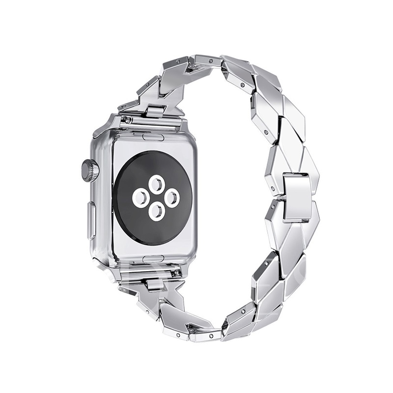 Apple Watch Band,Rhombic Stainless Steel Strap for iWatch Series 3/2/1