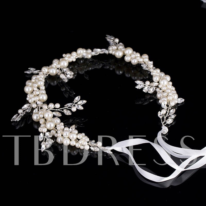 Bride Hair Band Artificial Pearl Hair Accessories