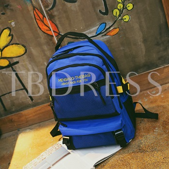 Color Block Oxford Women Backpack