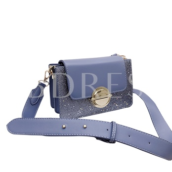 Fashion Wide Shoulder Straps Sequins Crossbody Bag