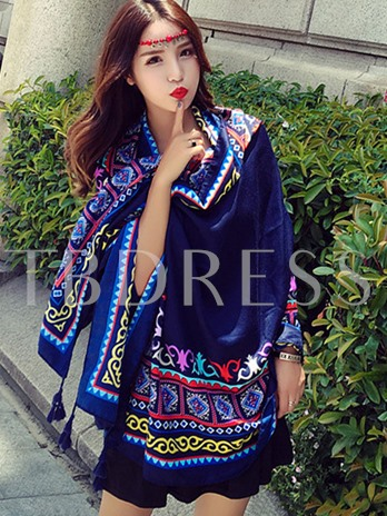 Bohemian Print Tassel Cover-Up