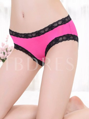 Bowknot Lace Patchwork Hollow-out Women's Panty