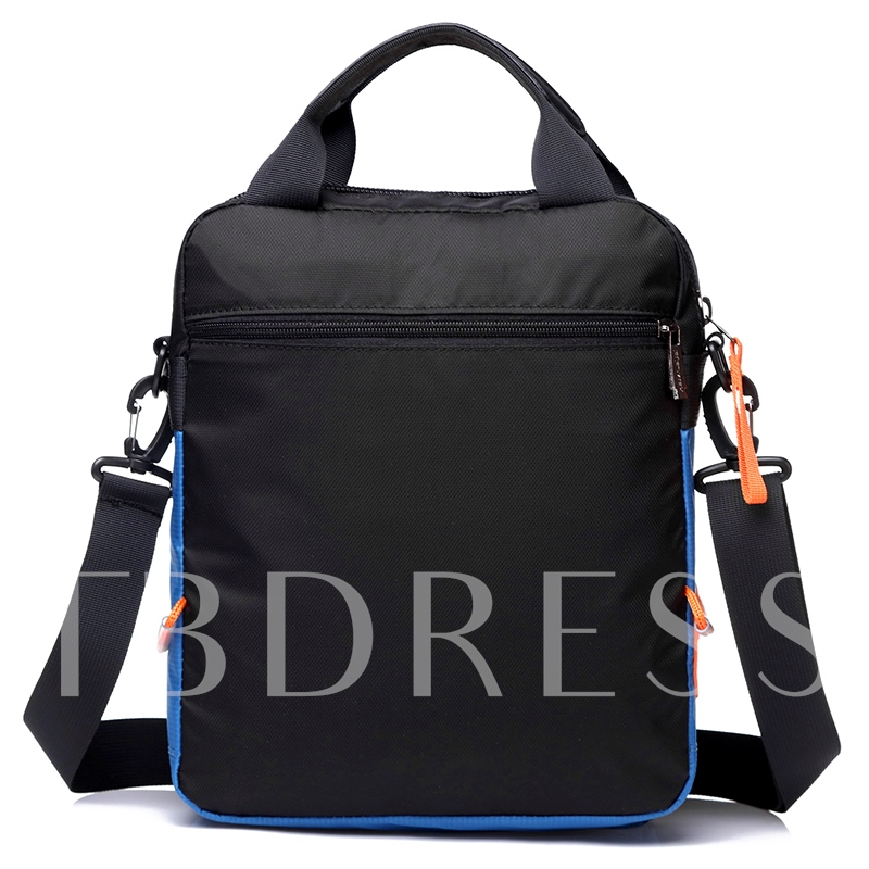 Color Block Zipper Men's Cross Body Bag