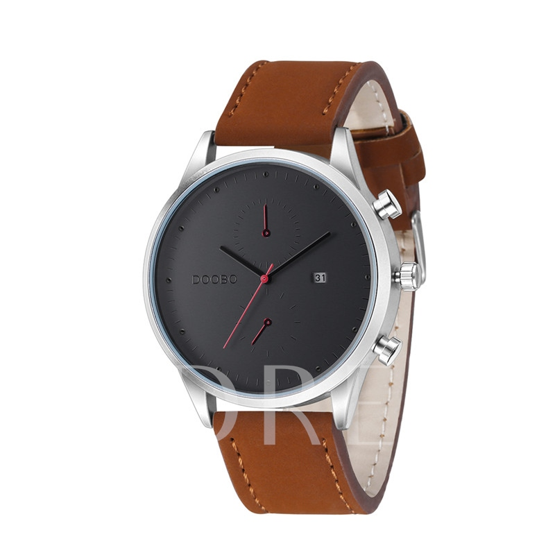 Life Waterproof Artificial Leather Strap Men's Watches