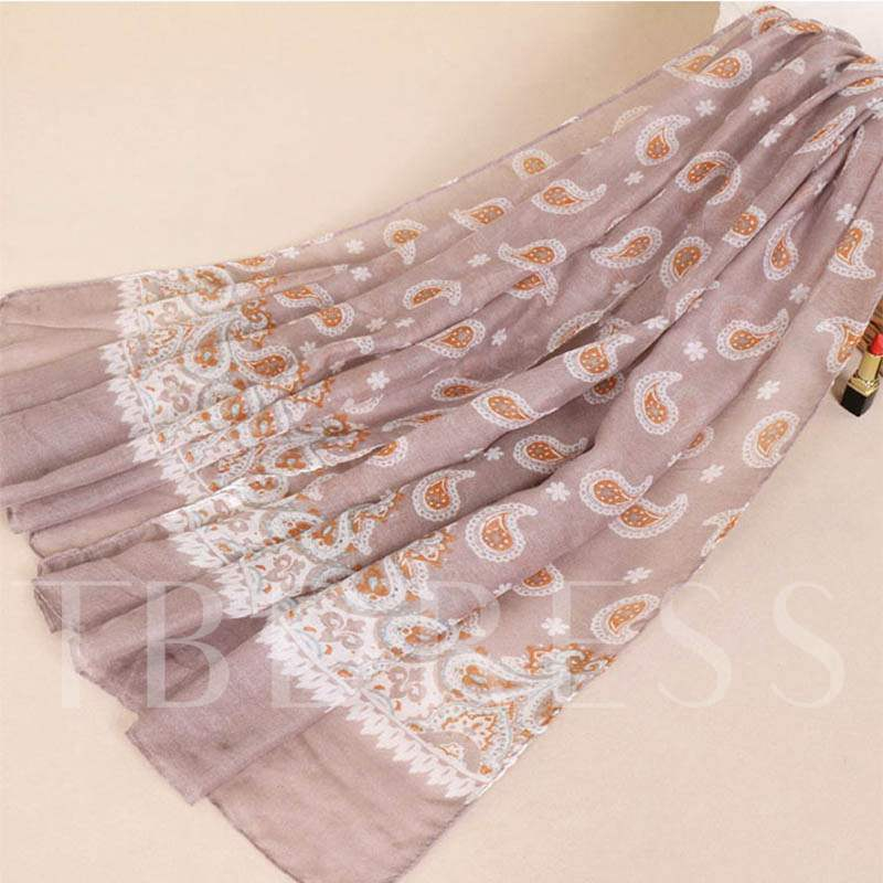 Soft Plant Voile Colorful Scarfs