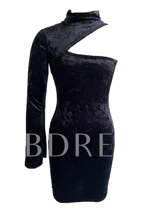 Corduroy Cut out Women's Bodycon Dress