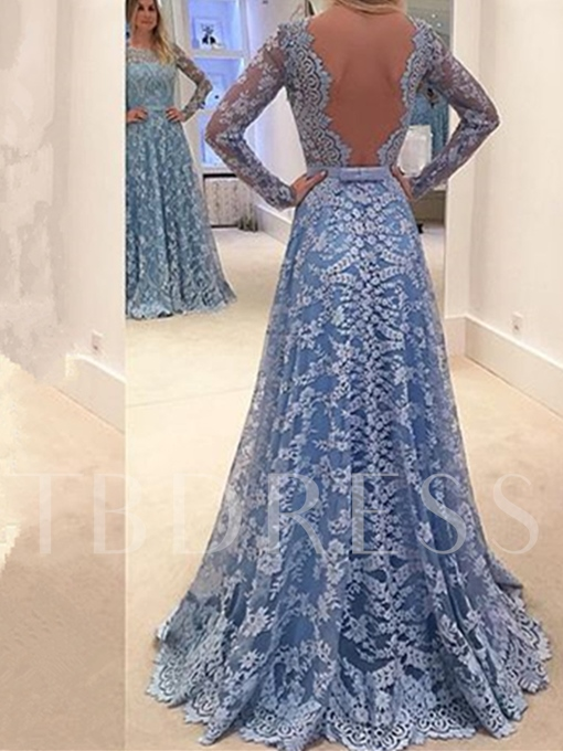 Jewel Mermaid Long Sleeves Appliques Lace Ruched Court Train Evening Dress