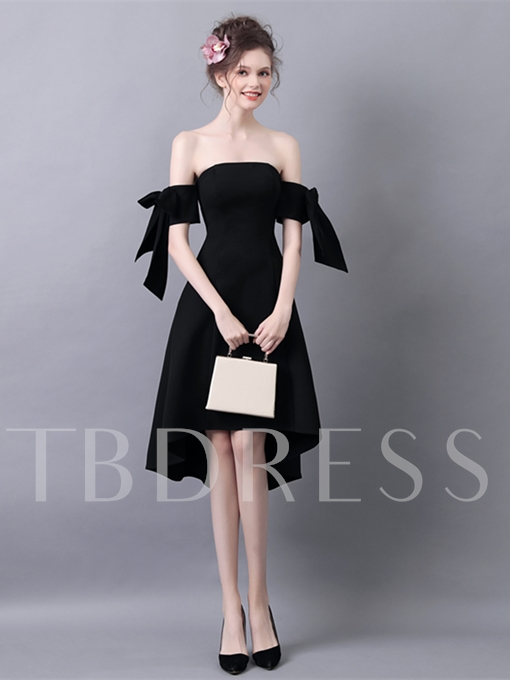 A-Line Off-the-Shoulder Asymmetry Cocktail Dress