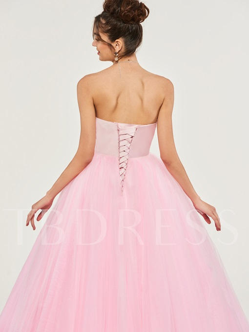 Sweetheart Lace Appliques Quinceanera Dress