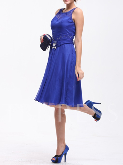 A-Line Knee-Length Mother of the Bride Dress