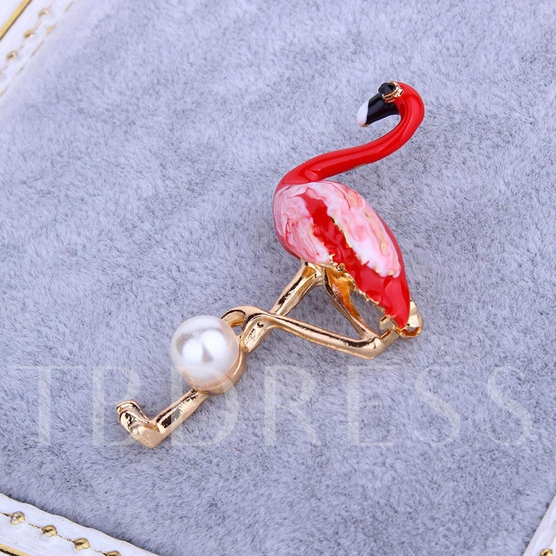 Love Bird Imitation Pearl Women's Brooches