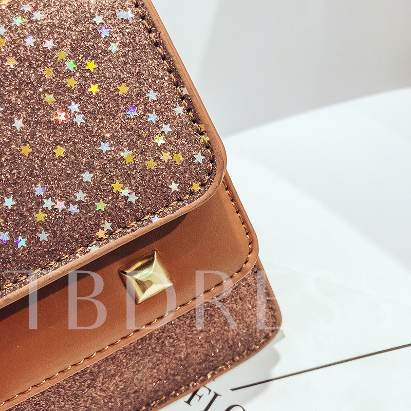 Trendy Sequins Plain Chain Cross Body Bag