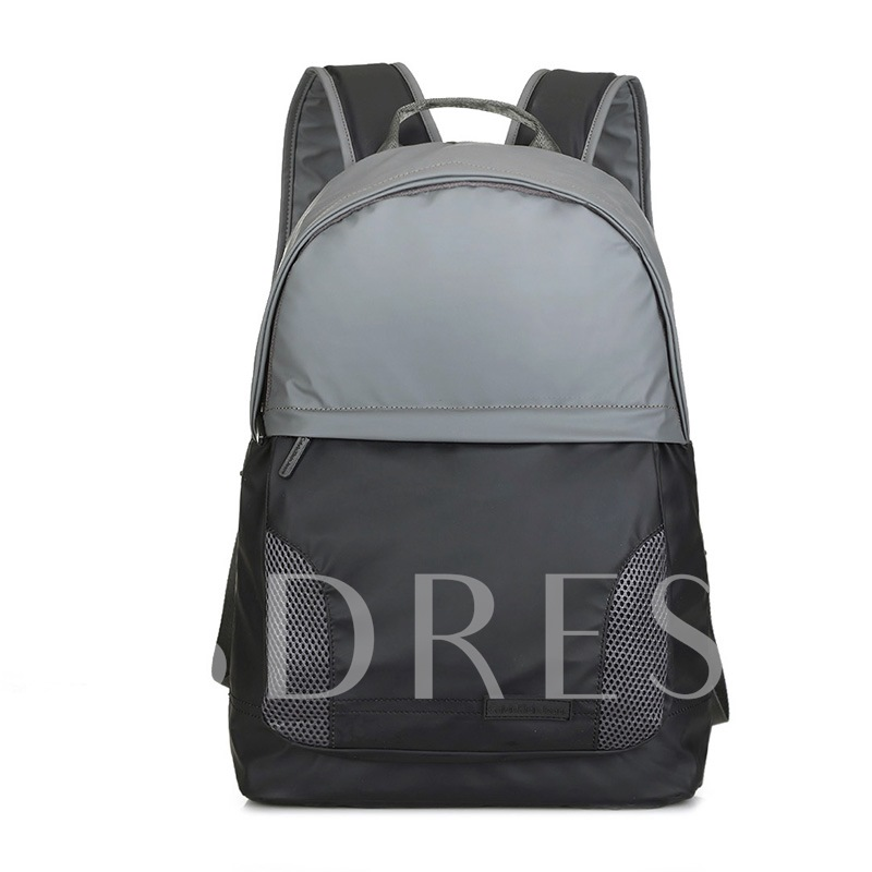 Casual Color Block Nylon Backpack