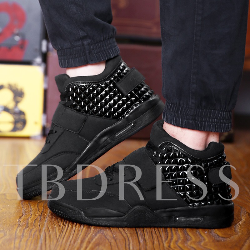 Patchwork Platform High Top Casual Sneakers for Men
