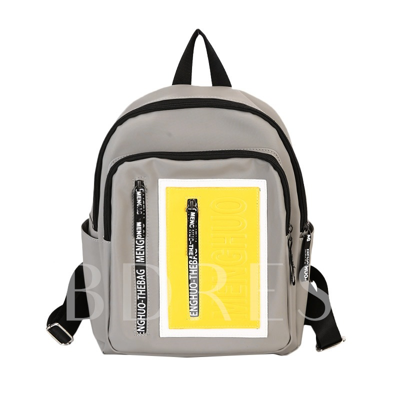Casual Color Block Unisex Nylon Backpack
