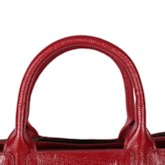 European Plain Leather Square Tote Bags