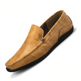 Men's Casual Loafer Plain Pattern Slip On Boat Shoes