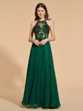 A-Line Appliques Lace Sashes Prom Dress
