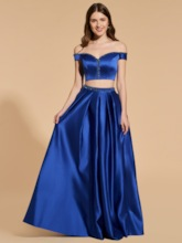 Beading Two Pieces A-Line Prom Dress