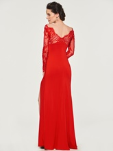 Beading Lace Sheath Mother of the Bride Dress with Sleeves