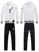 Stand Collar Plain Leisure Men's Sports Suits