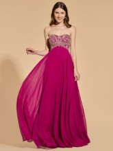 A-Line Sweetheart Beading Empire Prom Dress
