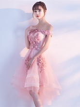 A-Line Appliques Beadings Lace Prom Dress