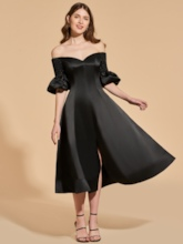 A-Line Off-the-Shoulder Cocktail Dress