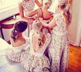 High Low Backless Lace Bridesmaid Dress