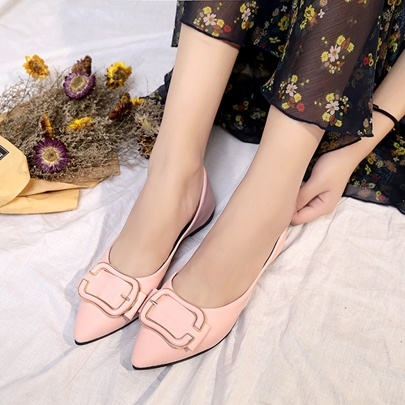 Pointed Toe Plain Simple Flats for Women