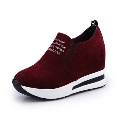 Print Letter Platform Height Shoes Women's Sneakers